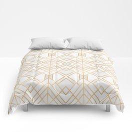 Golden Geo Comforters