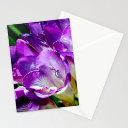 Royal Purple - The Prince Of Freesias Stationery Cards