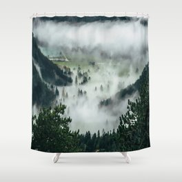 The Rolling Gray Shower Curtain