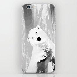 Unique Black and White Polar Bear Design iPhone Skin
