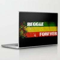 reggae Laptop & iPad Skins featuring Reggae Is Forever II by F. C. Brooks