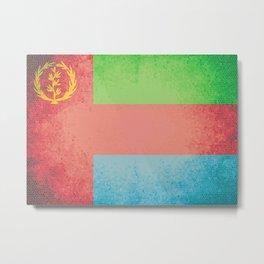 Eritrea Vintage Flag Metal Print