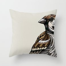 Berlin Sparrow Throw Pillow