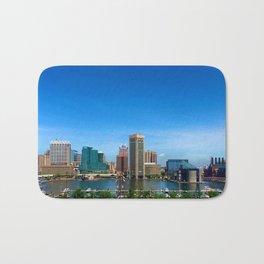 Baltimore Skyline Bath Mat