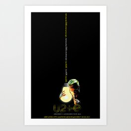 Innocence+Experience World Tour 2015 with Bono Concert Poster: NYC 7/22-23 Art Print