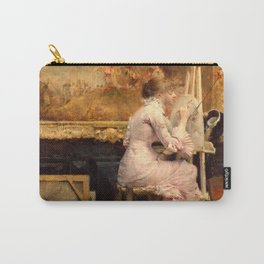 Pascal Dagnan-Bouveret - Watercolourist in the Louvre Carry-All Pouch