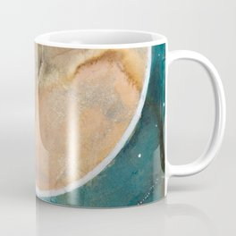 Pink Eco Print Moon Coffee Mug