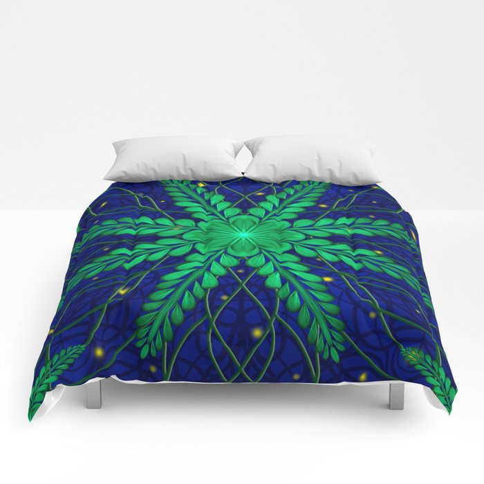Web of Leaves and Light Comforters