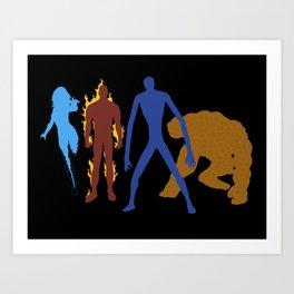 The Fantastic 4 Art Print