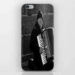 Accordion Busking on Howth Bay iPhone Skin