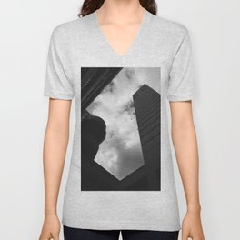 Soaring heights || black and white architecture photography || SINGAPORE Unisex V-Neck