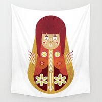 doll Wall Tapestries featuring Doll by Roxie Emm