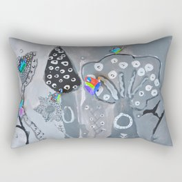 Paper Painting Forest #society6 Rectangular Pillow