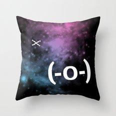 Typospacechase Throw Pillow
