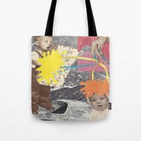 kids Tote Bags featuring Kids by collageriittard