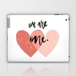 Soul mates hearts Laptop & iPad Skin