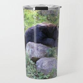 Contemplative Black Bear Travel Mug
