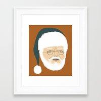 santa Framed Art Prints featuring santa by Rich Orr