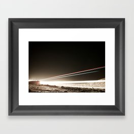 Driving light 2 Framed Art Print