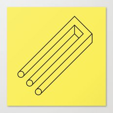 Impossible Object Canvas Print