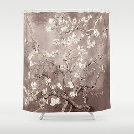 Van Gogh Almond Blossoms Beige Taupe Shower Curtain