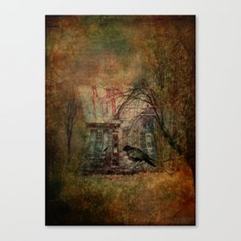 Courting Crow Canvas Print