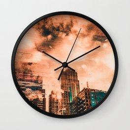 Seattle Pier 57 Dock Reflection Wall Clock