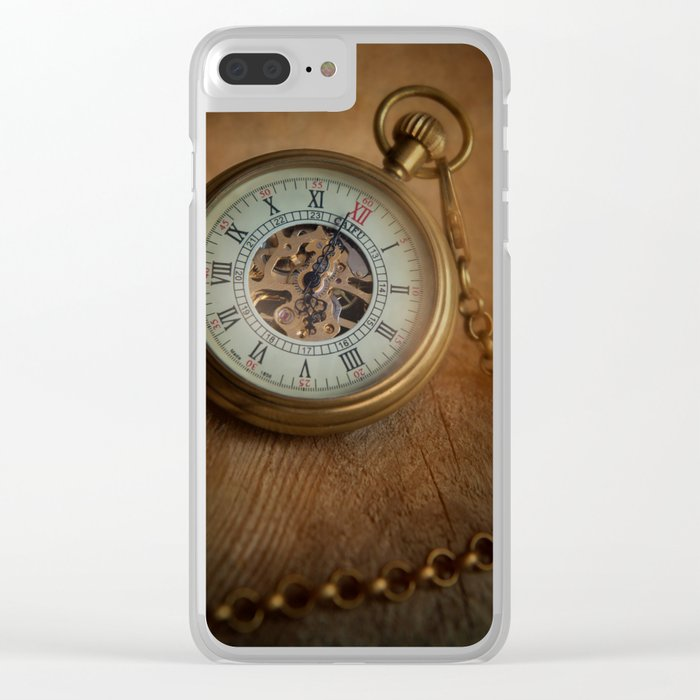 Time, time, time Clear iPhone Case