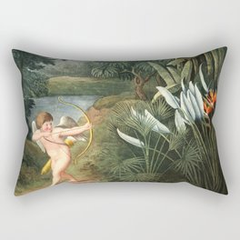 Cupid : New Illustration Of The Sexual System Rectangular Pillow