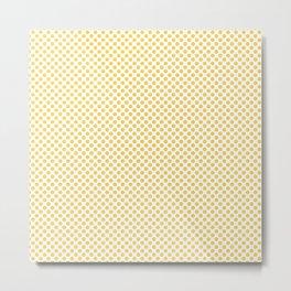 Primrose Yellow Polka Dots Metal Print