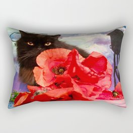Pomponio Mela loves poppies Rectangular Pillow