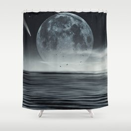 oceans of tranquility Shower Curtain