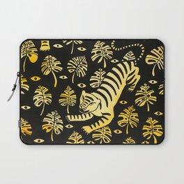 Tiger jungle animal pattern Laptop Sleeve
