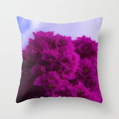 Purple against the sky Throw Pillow