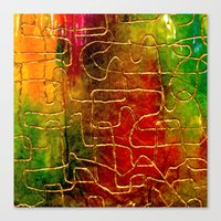 labyrinth Canvas Prints featuring Labyrinth by Chicca Besso