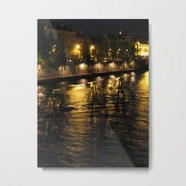 The Seine at Night Metal Print