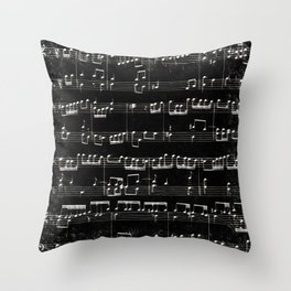 Nota Bene (black) Throw Pillow