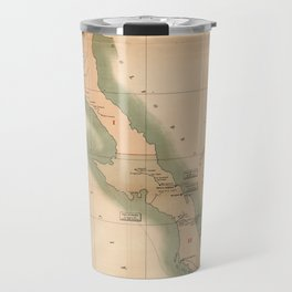 Vintage Baja California Postal Map (1904) Travel Mug