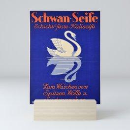 placard schwan seife cygne Mini Art Print