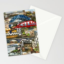 """""""Cleveland Bridges"""" in cut paper by Willowcatdesigns Stationery Cards"""
