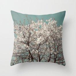 Snow Blossom Throw Pillow