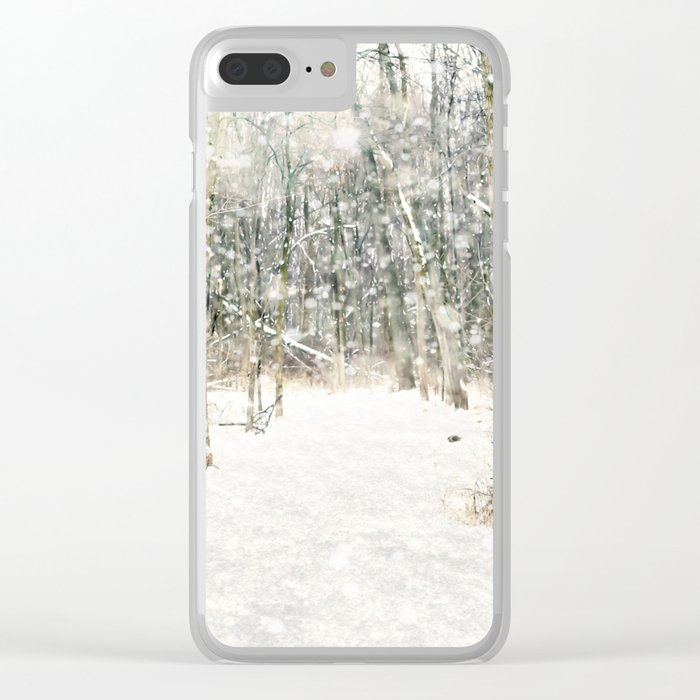 Winter Woods Clear iPhone Case