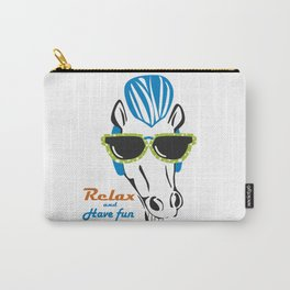 Funny Horse with Sunshades Carry-All Pouch