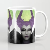 maleficent Mugs featuring Maleficent by clayscence