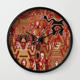 Chimu Style Ceremonial Textile, 14th Century Wall Clock
