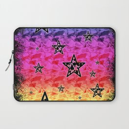 Rainbow Toxic Stars Laptop Sleeve