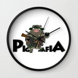Pig Mafia Wall Clock