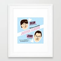 justice league Framed Art Prints featuring Dean Strang & Jerry Butin - Wisconsin Justice League by Kodiak Milly