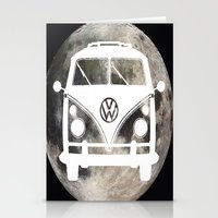 volkswagon Stationery Cards featuring Moon Wagon by Isaak_Rodriguez