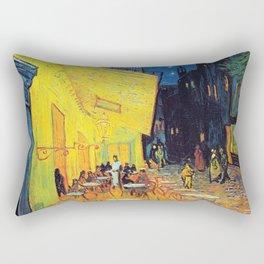 Vincent Van Gogh - Cafe Terrace at Night (new color edit) Rectangular Pillow